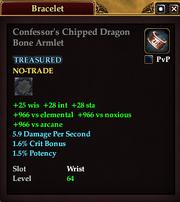 Confessor's Chipped Dragon Bone Armlet