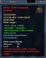 Gloves of the Caertaxian Assassin
