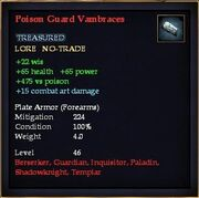 Poison Guard Vambraces