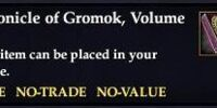 Chronicle of Gromok, Volume IV