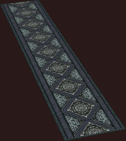 Diamond-weave Dark Scale Runner (Placed)