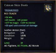 Caiman Skin Boots
