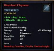 Wasteland Claymore