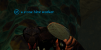 A stone hive worker
