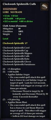 Clockwork Spidersilk Cuffs
