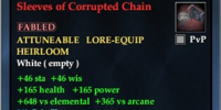 Sleeves of Corrupted Chain