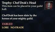 Trophy ChelDraks Head