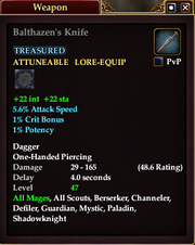 Balthazen's Knife
