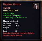 Darkbone Greaves