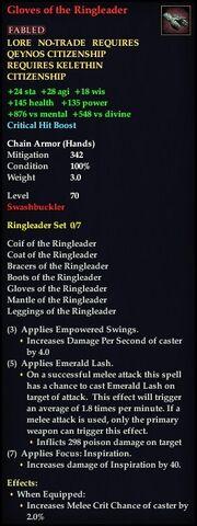 Gloves of the Ringleader