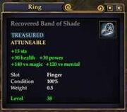 Recovered Band of Shade