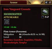 Iron Vanguard Gussets