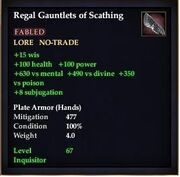 Regal gauntlets