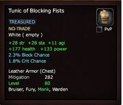 Tunic of Blocking Fists