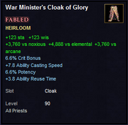 War Minister's Cloak of Glory