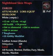Nightblood Skin Wraps