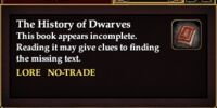 The History of Dwarves (Quest Starter)