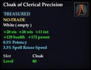 Cloak of Clerical Precision