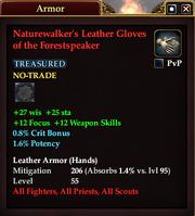 Naturewalker's Leather Gloves of the Forestspeaker