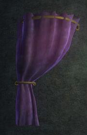 Purple Velvet Curtain Left Placed