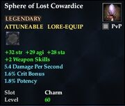 Sphere of Lost Cowardice