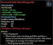 Devoured-hide Shoulderguards