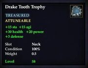 Drake Tooth Trophy