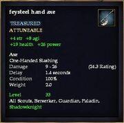 Feysteel hand axe