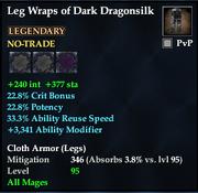 Leg Wraps of Dark Dragonsilk