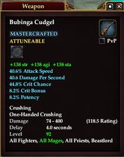Bubinga Cudgel