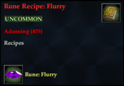 Rune Recipe- Flurry