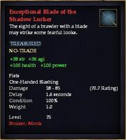 Exceptional Blade of the Shadow Lurker