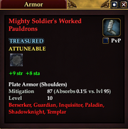 Mighty Soldier's Worked Pauldrons