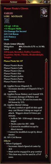 Planar Pirate's Gloves