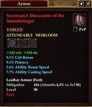 Sacrosanct Moccasins of the Stormbringer