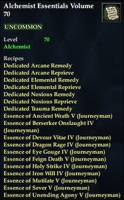 Alchemist Essentials Volume 70