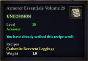 Armorer Essentials Volume 28