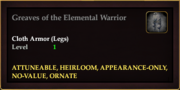 Greaves of the Elemental Warrior