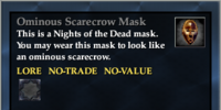 Ominous Scarecrow Mask