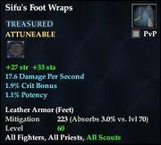 Sifu's Foot Wraps