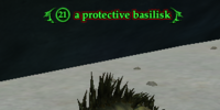 A protective basilisk