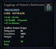 Leggings of Nature's Fatebinder