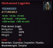 Mechanized Legplates