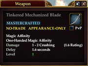 Tinkered Mechanized Blade