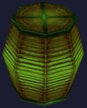Green festival lantern (Visible)