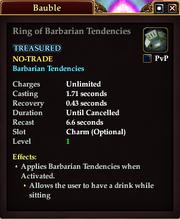 Ring of Barbarian Tendencies