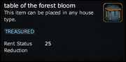 Table of the forest bloom