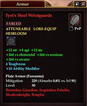 Fyst's Steel Wristguards
