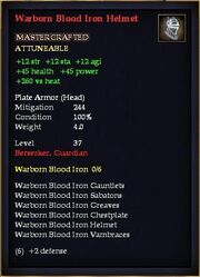 Warborn Blood Iron Helmet