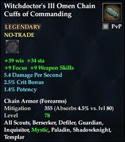 Witchdoctor's Ill Omen Chain Cuffs of Commanding